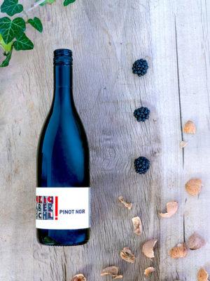 Eine Flasche Pinot Noir vom Weingut Faber-Köchl