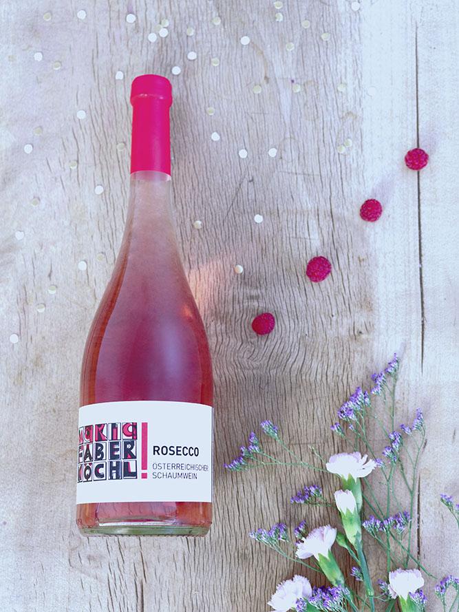 Eine Flasche Rosecco vom Weingut Faber-Köchl