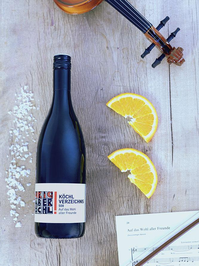 Eine Flasche Köchl Verzeichnis 508 vom Weingut Faber-Köchl