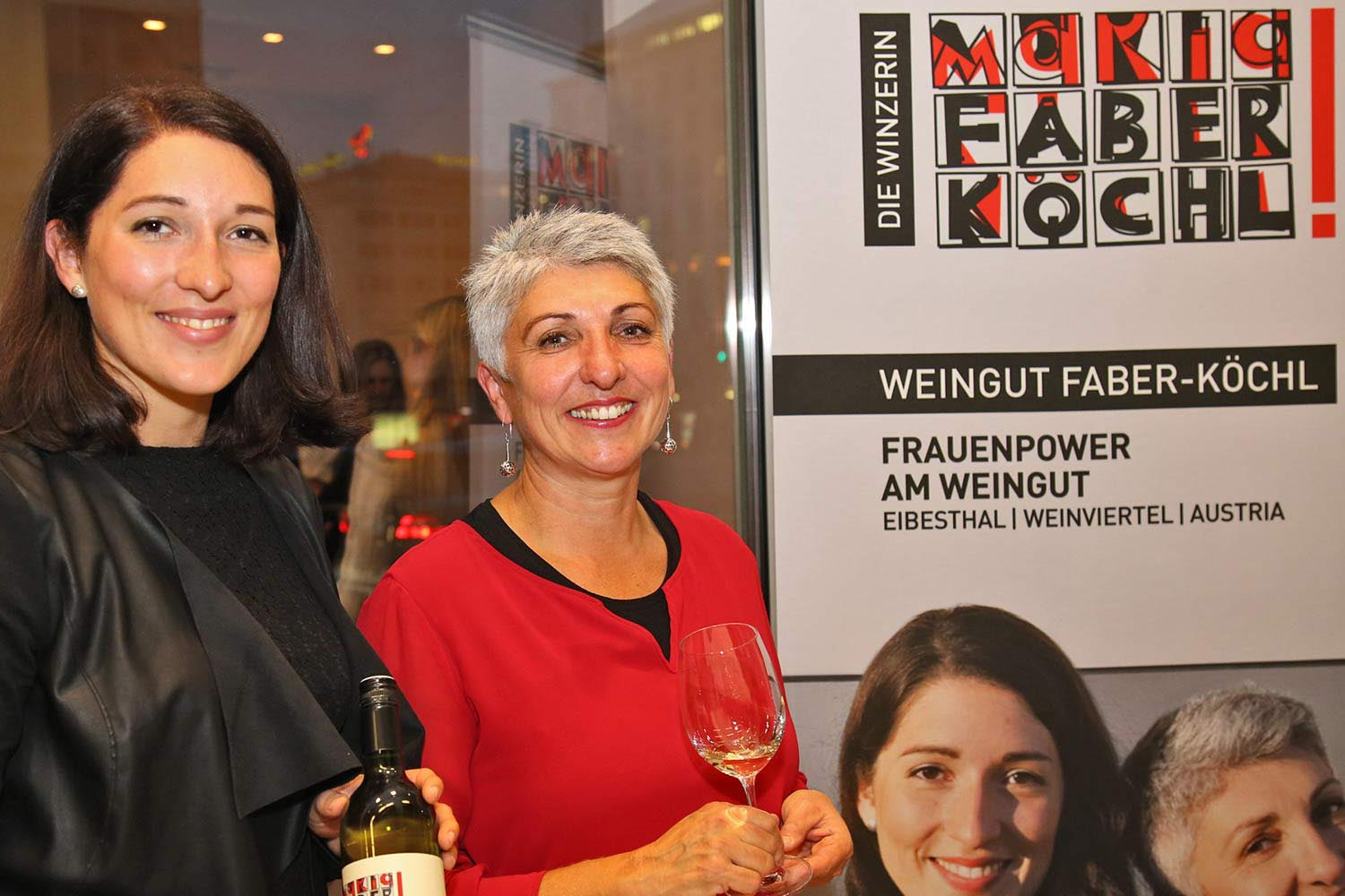 Die Winzerinnen Faber-Köchl bei Wine in the City