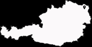 Standort von Eibesthal auf einer Österreich-Karte