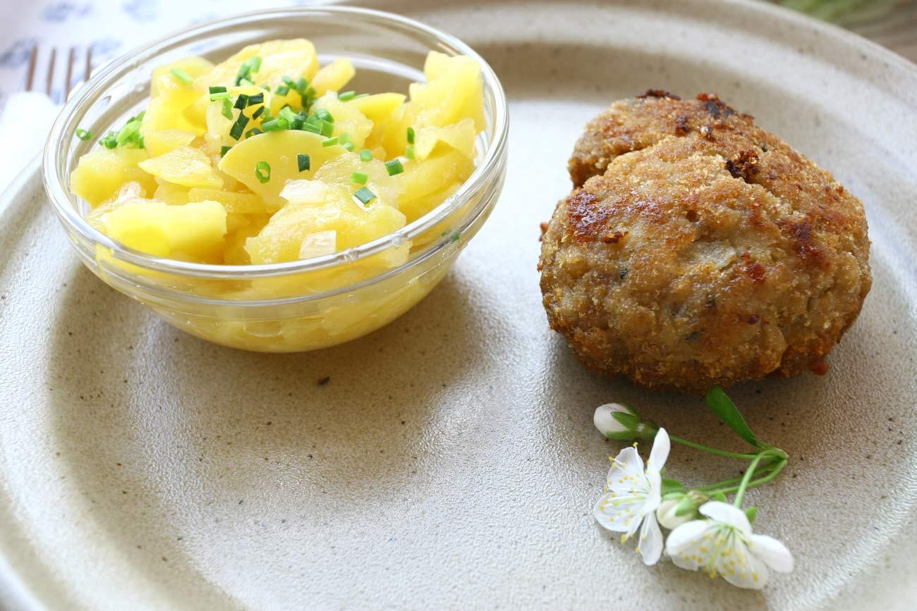 Faschierte Laibchen serviert beim Summerwine am Weingut Faber-Köchl