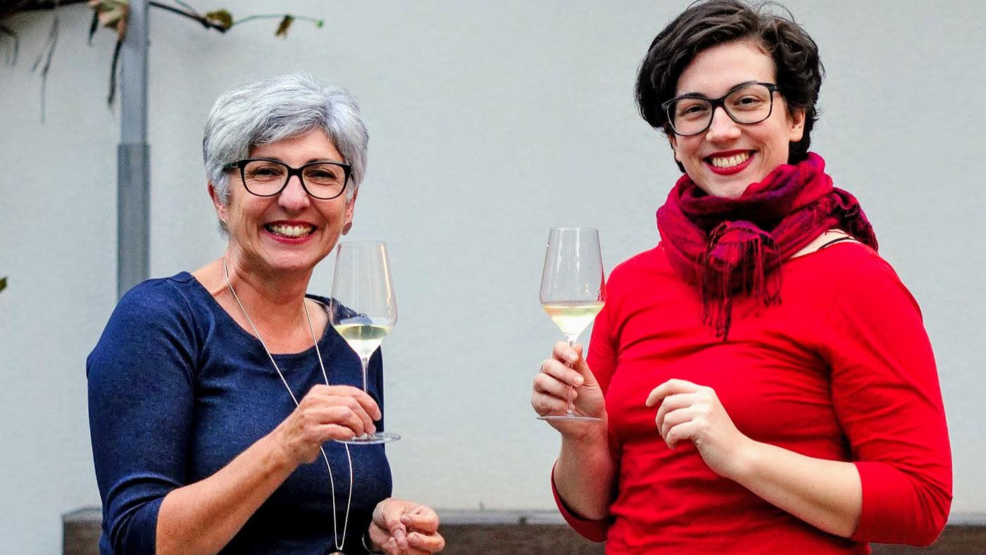 Maria Faber-Köchl mit der Bloggerin Valerie
