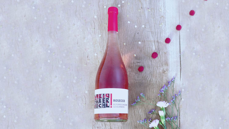 Eine Flasche Rosecco des Weingut Faber-Köchl