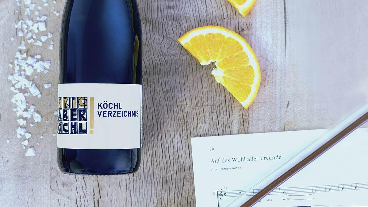 Eine Flasche Köchl Verzeichnis Exklusiv vom Weingut Faber-Köchl