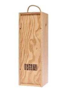 Holzkiste für Wein mit Logo-Branding